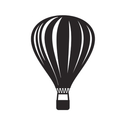 black Hot air balloon vector image
