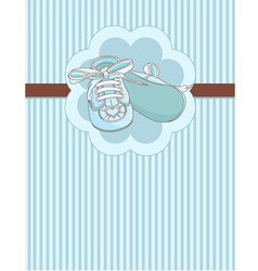 Blue bashoes place card vector