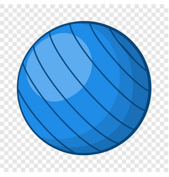 blue volleyball ball icon cartoon style vector image