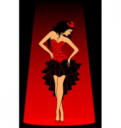 Cancan dancer vector