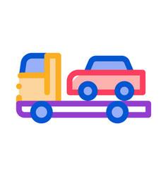 car evacuation icon outline vector image