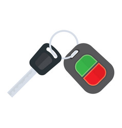 Car keys on a white background vector