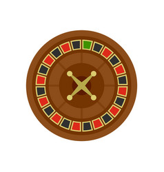 Casino roulette icon flat style vector
