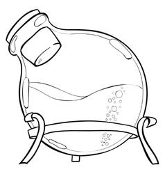 Chemistry lab jar vector