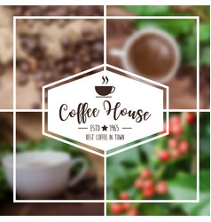 Coffee background design use in presentation vector