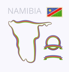 Colors of namibia vector
