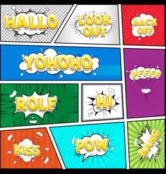 comic dialog cloud text pop-art vector image