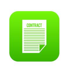 contract icon digital green vector image