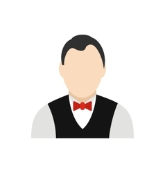 Croupier flat icon vector
