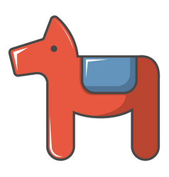 Dala horse swedish symbol icon cartoon style vector