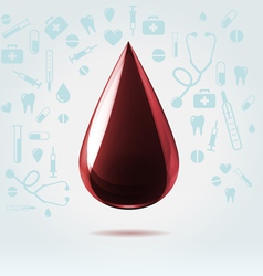 Dark blood drop vector image