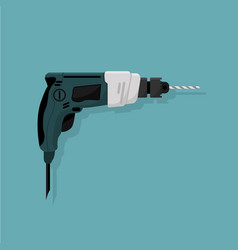 design of a manual electric drill a work tool vector image