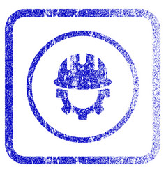 development hardhat framed textured icon vector image