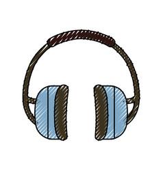 Earphones industrial security vector