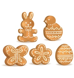 easter cookies vector image
