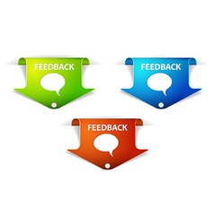 Feedback Arrow Labels Stickers vector image