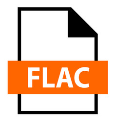 file name extension flac type vector image