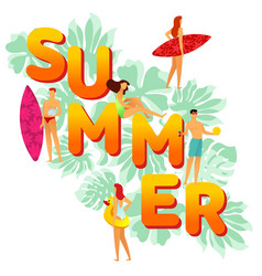 flat big word summer on the vector image