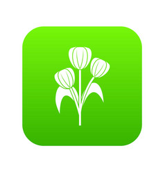 flowers icon digital green vector image