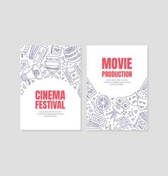 flyer for cinema festival vector image