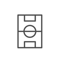 football field line icon vector image
