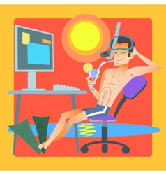 Freelancer works resort computer vector