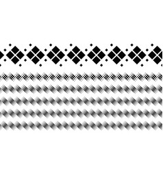 Geometrical abstract monochrome square pattern vector