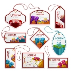 Gift Package Tags Set vector image