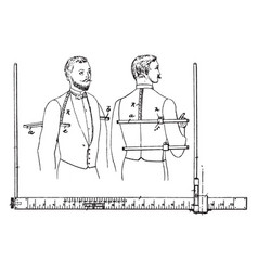 Gradually marked tailors measure vintage vector