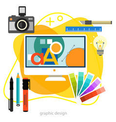 Graphic and web design trendy amoeba style concept vector