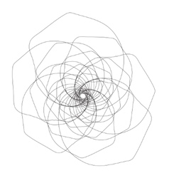 Graphic flower outline vector