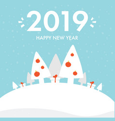 Greeting card for new year 2019 vector