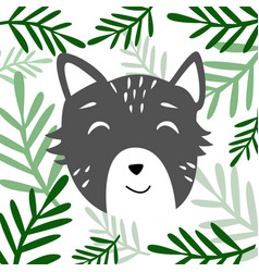head of cute animal vector image