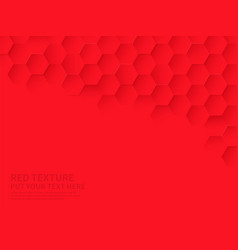 Hex texture red hexagon pattern abstract vector