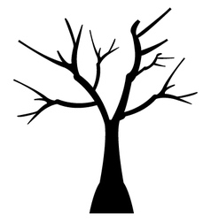 icon dry tree vector image