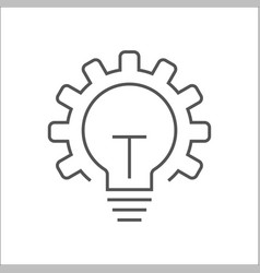 innovation icon light bulb and gear vector image