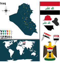 Iraq map world vector image