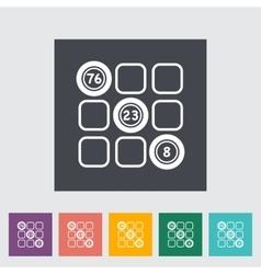 Keno icon vector