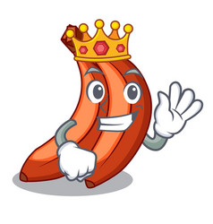 King banana merah in the shape cartoon vector