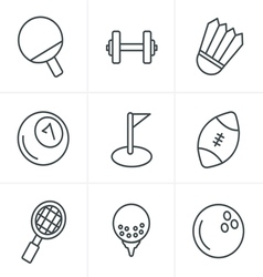 Line Icons Style Sport icons Set Design vector image