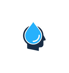 liquid human head logo icon design vector image
