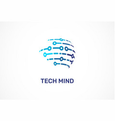 logo - technology tech icon and symbol vector image