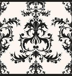 luxury rococo repeating vector image