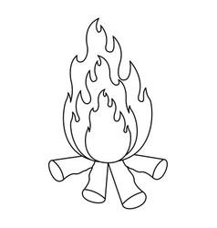 monochrome silhouette of bonfire icon vector image
