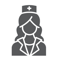 nurse glyph icon medicine and clinical woman vector image
