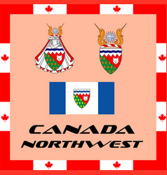 Official government elements of canada - northwest vector