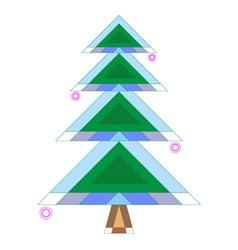Original stylized beauty fir tree vector