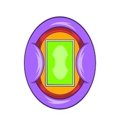 Oval football stadium icon cartoon style vector