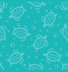 Pattern with sea turtles 2 vector