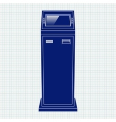 Payment kiosk Web icon vector image